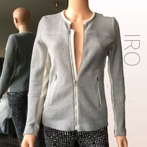 IRO Knit & Scuba Wool Blend Clever Jacket